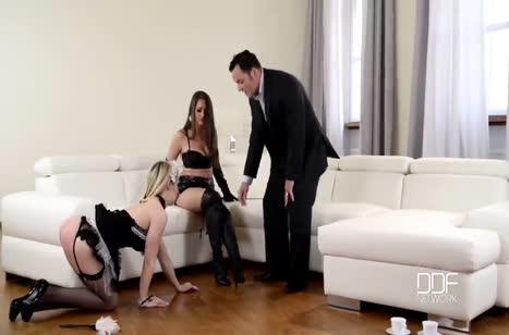 Жена с мужем решили позвращаться над домработницей